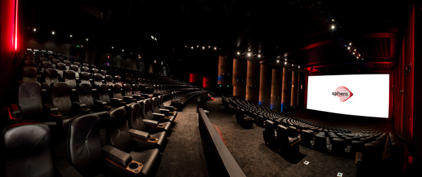 CinemaNext Panoramic View First Sphera Premium Cinema in Athens